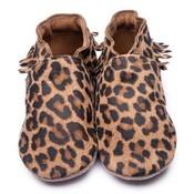 Inch Blue babyslofjes moccasin leopard