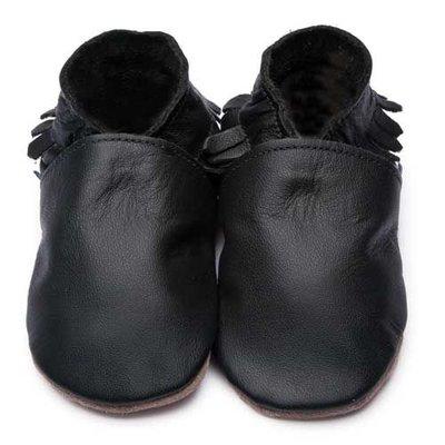 Inch Blue babyslofjes moccasin black