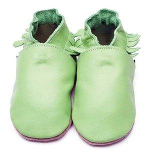 Inch Blue babyslofjes moccasin apple green