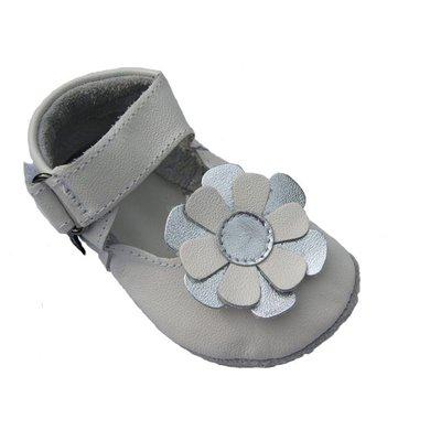Baby Paws babyslofjes Kylie wit zilver