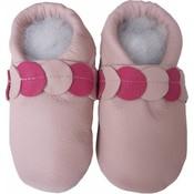Menu Shoes babyslofjes roze met band
