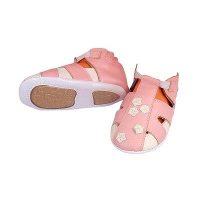 babyslofjes met zooltje sandaaltje roze