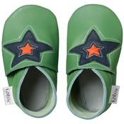 Bobux babyslofjes Astro ster groen