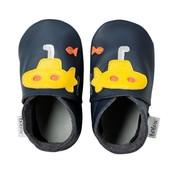 Bobux babyslofjes Duikboot blauw geel