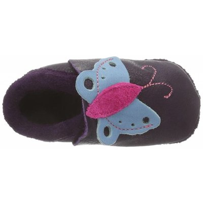 Pololo babyslofjes Butterfly aubergine