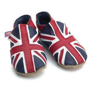 Starchild babyslofjes union jack navy red
