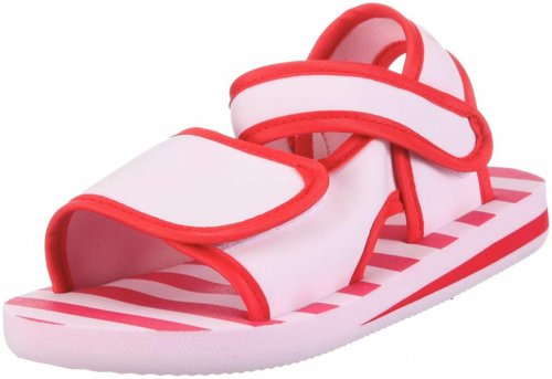 Playshoes Watersandaaltjes Rood Met Roze Strepen