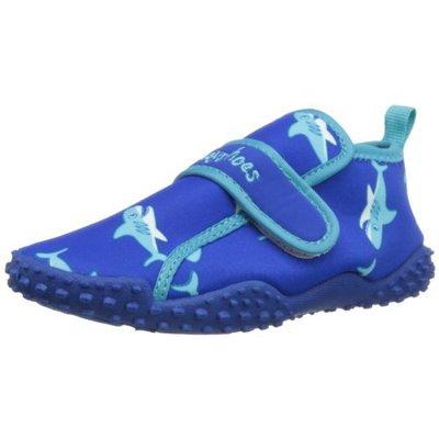 Playshoes waterschoenen haai blauw