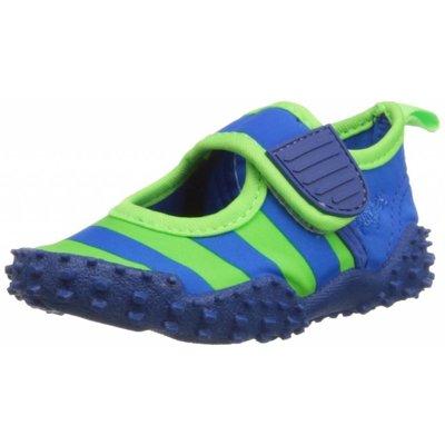 Playshoes waterschoenen streep blauw groen