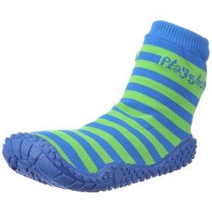 Playshoes zwemsokken strepen blauw groen