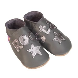 Starchild babyslofjes rock star grey metal