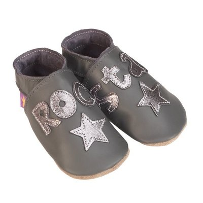 Starchild babyslofjes rock star grey metal