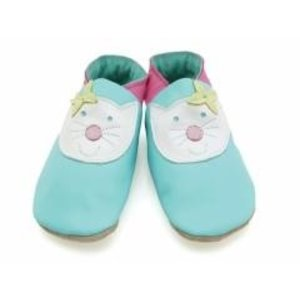 Starchild babyslofjes happy cat turquoise