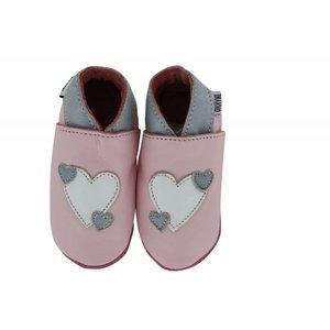 Oxxy babyslofjes hart roze