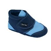 Baby Paws babyslofjes Rap Ova contrast marine blauw