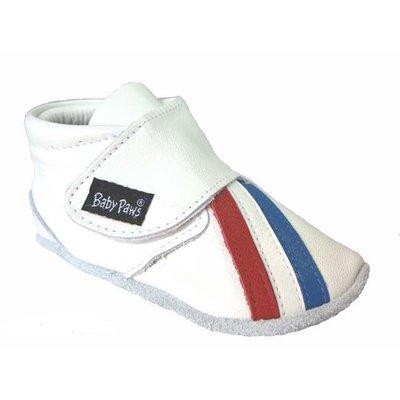 Baby Paws babyslofjes Rap Ova sport rood wit blauw