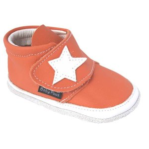 Baby Paws babyslofjes Jak Rap Star oranje