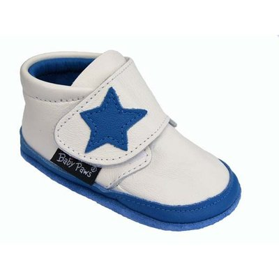 Baby Paws babyslofjes Jak Rap Star wit met blauwe ster