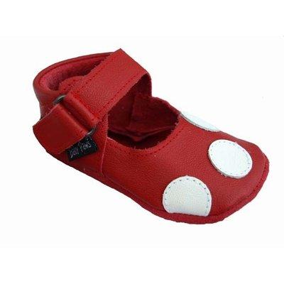 Baby Paws babyslofjes Debra rood