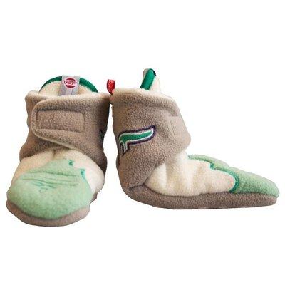 Lodger babyslofjes fleece Emerald