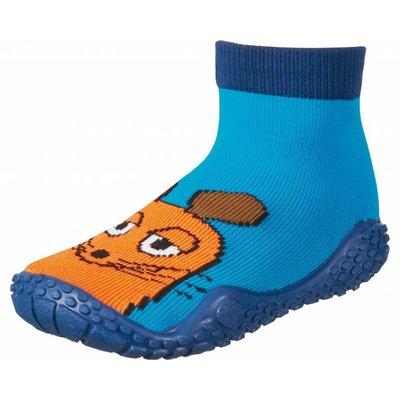 Playshoes zwemsokken muis aquablauw