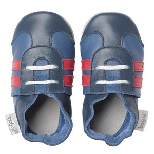 Bobux babyslofjes Sport shoe navy red