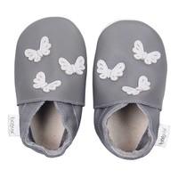 Bobux babyslofjes Grey butterflies