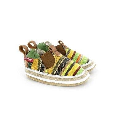 Shoesme babyslofjes Babyproof Soft espadrille groen