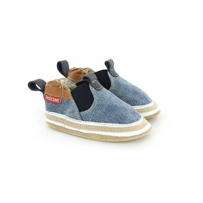 Shoesme babyslofjes Babyproof Soft espadrille blauw