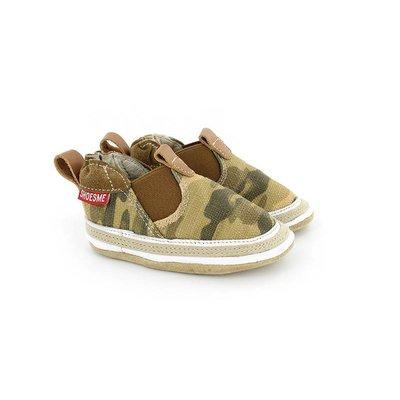 Shoesme babyslofjes Babyproof Soft espadrille camouflage