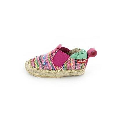 Shoesme babyslofjes Babyproof Soft espadrille fuchsia