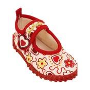 Playshoes Waterschoenen Bloemen en Hartjes Rood