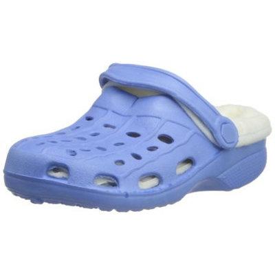 Playshoes EVA klompjes lichtblauw met wintervoering