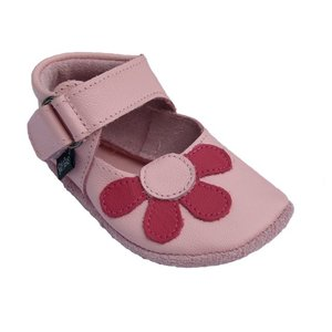 Baby Paws babyslofjes Amanda roze met fuchsia bloem