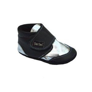 Baby Paws babyslofjes Rap Ova contrast zwart zilver