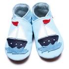 Inch Blue babyslofjes sail boat baby blue