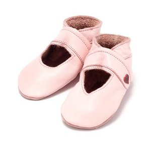 Baby Dutch babyslofjes open roze