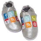 Baby Dutch babyslofjes I shoe zilver