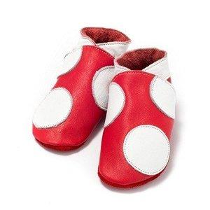 Baby Dutch babyslofjes rood met stip