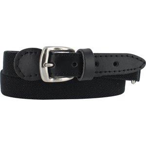 Riem in de kleur zwart. deze verstelbare riem is 1,5 cm breed en in acht kleuren verkrijgbaar.