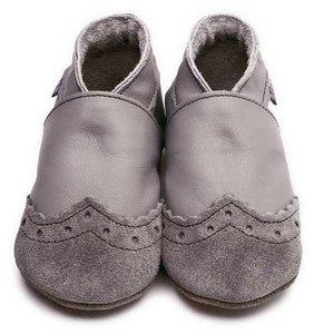 Inch Blue babyslofjes broque grey