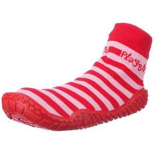 Playshoes zwemsokken strepen rood