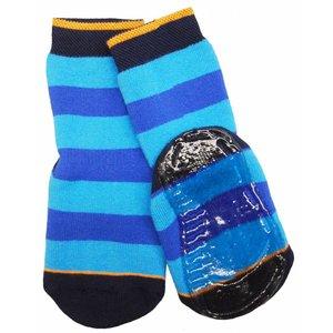 Ewers anti-slip sokken strepen blauw