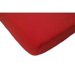 Jollein hoeslaken interlock double jersey rood