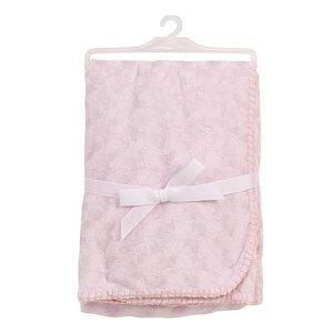 BabyDan wiegdeken doppelt fleece roze