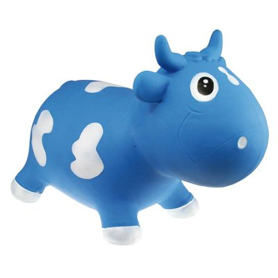 KidzzFarm skippydier Milk Cow Bella blauw en wit