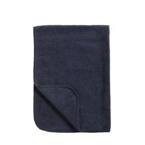 Meyco deken uni marineblauw