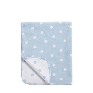 Meyco deken stip blauw/wit