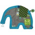 Label Label doekje olifant grijs