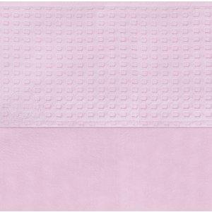 Jollein ledikant laken wafel roze 75x100 cm